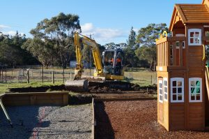 Preparation for the new playground